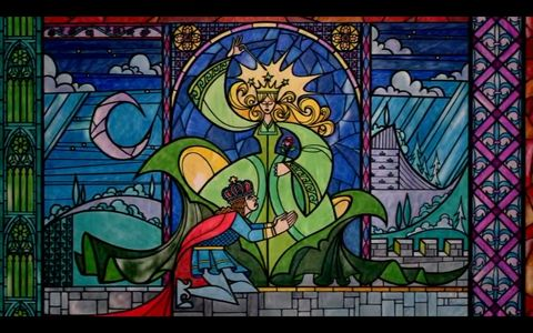 Stained glass rose from Beauty and the Beast - See this image on Photobucket.