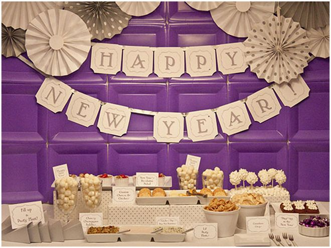 LOVE The Backdrop On This Purple New Yearu0027s Eve Party!