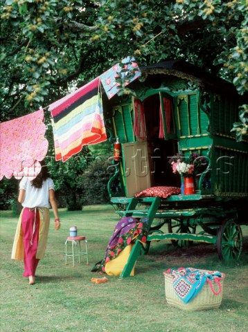 """... I would live the gypsy life, unencumbered with my artistic """"hoard""""! Absolutely love the smell of clothes dried in the sun and breezes!"""