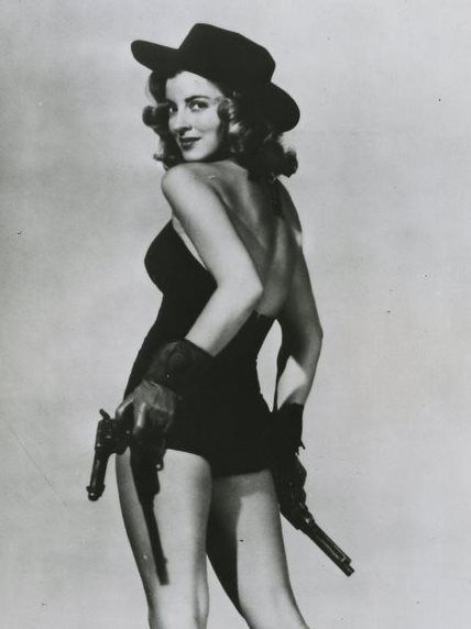 vintage cowgirl. what a babe.