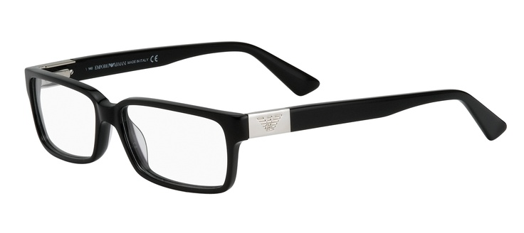 n iconic frame shape to suit men and women with silver metal badge on the arms featuring the Emporio Armani logo.  2 pairs complete $299  ref: 25635126