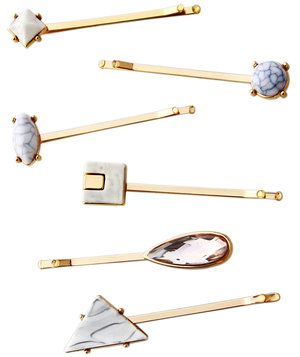 La-Ta-Da Marble Hair Slides | Known for Pinterest-worthy braids and waves (she styled models at the Victoria's Secret show last year), the celeb hairstylist works with Reese Witherspoon, Emily Blunt, and Lea Michele—plus she invented the first self-rotating curling iron. Follow @sarahpotempa on Instagram for fresh hair inspo.