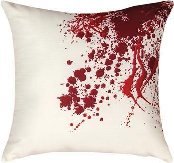 "SLSRSP 18"" x 18"" Shades of Red Splatter Pillow                                                        contemporary"