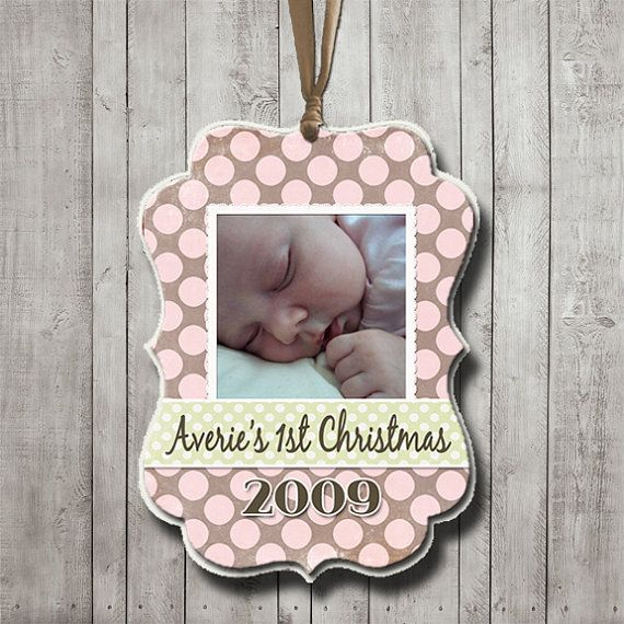 Best 25 baby christmas ornaments ideas on pinterest salt dough babys first christmas ornament wooden christmas ornament wood decoupage baby christmas keepsake personalized with photo ornament solutioingenieria Choice Image