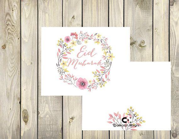 Happy Eid Card  Eid Mubark  Instant digital download