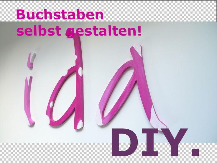 Dekobuchstaben ★ DIY ★ Kreativ-Set von PAULSBECK Buchstaben, Dekoration & Geschenke auf DaWanda.com