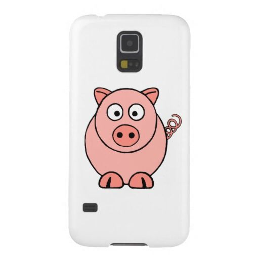 Pink Pig Case For Galaxy S5