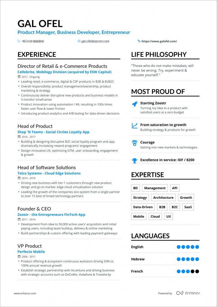 Resume Examples 1 Page 2021 In 2020 Resume Examples One Page Resume Good Resume Examples