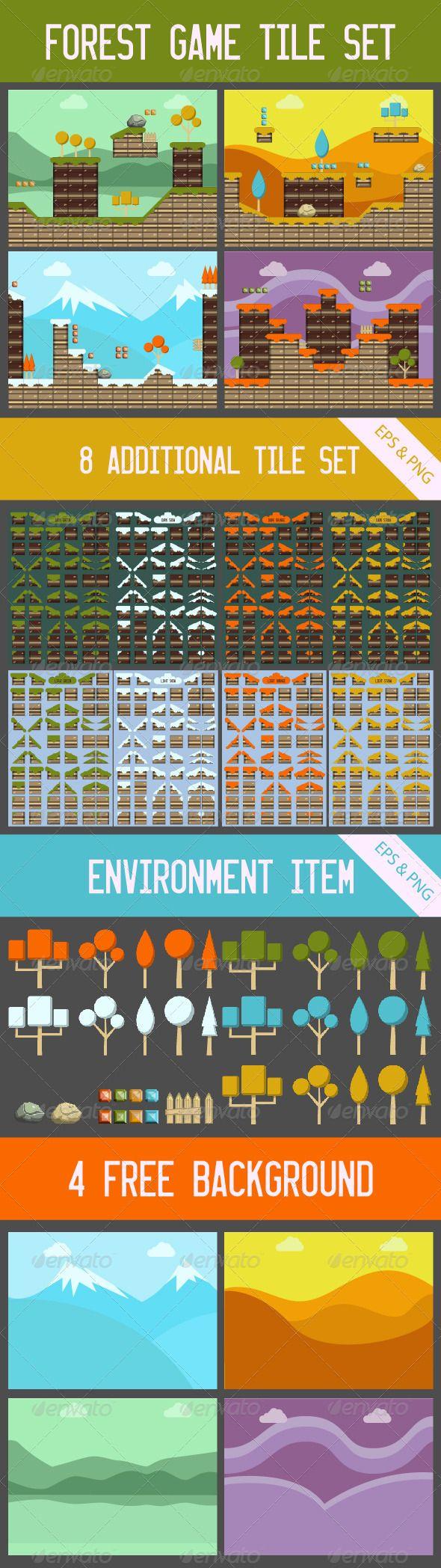 Forest Game Tile Set