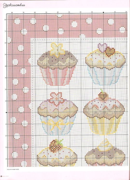 Cupcake pillow chart1