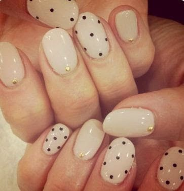 29 best dotted nail art images on pinterest nail scissors dot polka dot nail art so cute beige and black polka dot nails prinsesfo Image collections