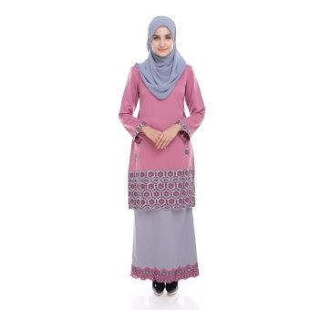 Seri Maharani Kurung Modern Jamie - Dusty Pink Grey Kurung Moden Jamie  is the latest collections from Seri Maharani for 2016, made of a very high quality material, comfortable to wear with perfect tailoring and unique embellishment Measurements:S - shoulder 14, chest 36, waist 34,... #bajukurung #bajukurungmoden