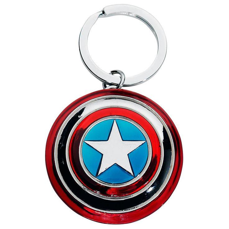 """Portachiavi """"Shield"""" di #CaptainAmerica con pendente."""