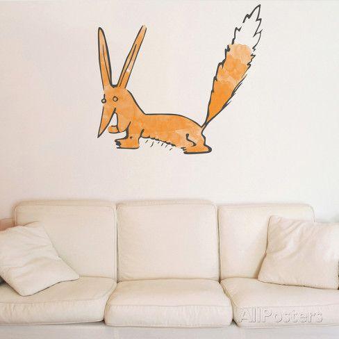 Le Petit Prince - Le renard aquarelle Sticker mural sur AllPosters.fr