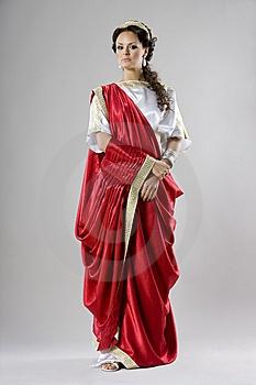 Representacion de la vestimenta Romana.