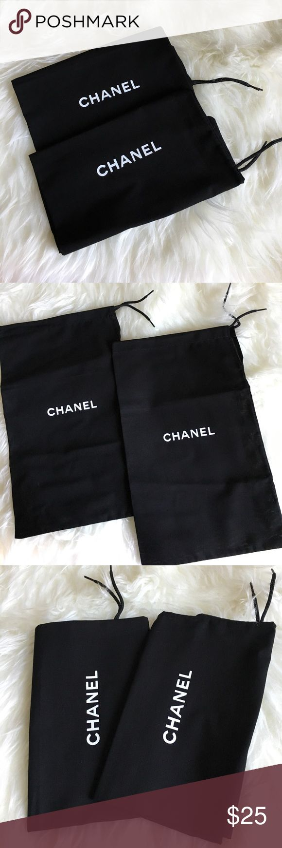 🌟SALE 1 DAY⭐️Authentic Chanel Shoe Dust Bags (2) ***Authentic Chanel Shoe Dust Bags. Size is 7 1/2 x 12 1/2. 2 Chanel Dust Bags. Dust bags came with a pair of Chanel Shoes I bought. The Dust bags fit Chanel: espadrilles, heels, flats, sneakers, sandals.. etc. You can only get these Dust bags when purchasing Chanel Shoes. 🛑SHOES NOT INCLUDED, PLEASE READ DESCRIPTION AND SEE ALL PICTURES BEFORE PURCHASING🛑 No Returns or Exchanges. EXCLUDED from bundle, if it's bundled order will be…