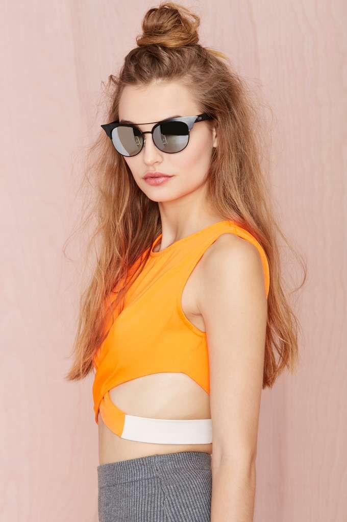 love this pop of tangerine | Beauty Bijin-san | Pinterest