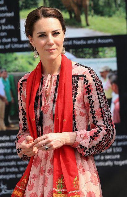Duke and Duchess of Cambridge visit a village in Kaziranga