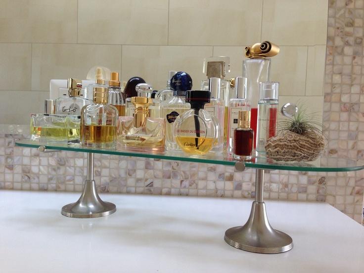 Cake Stand As Perfume Display