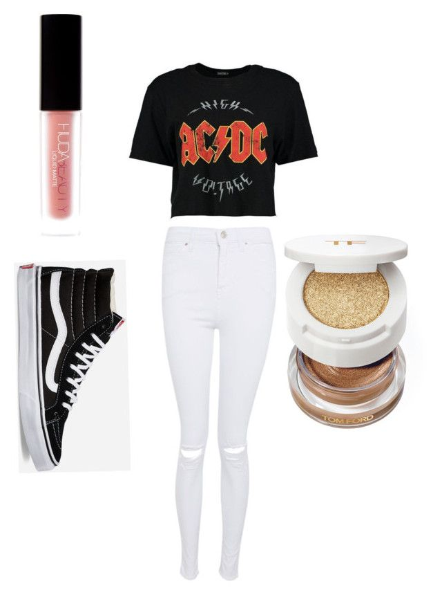 """""""How to wear vans"""" by racheal-julia-goernert on Polyvore featuring Vans, Topshop, Huda Beauty and Tom Ford"""