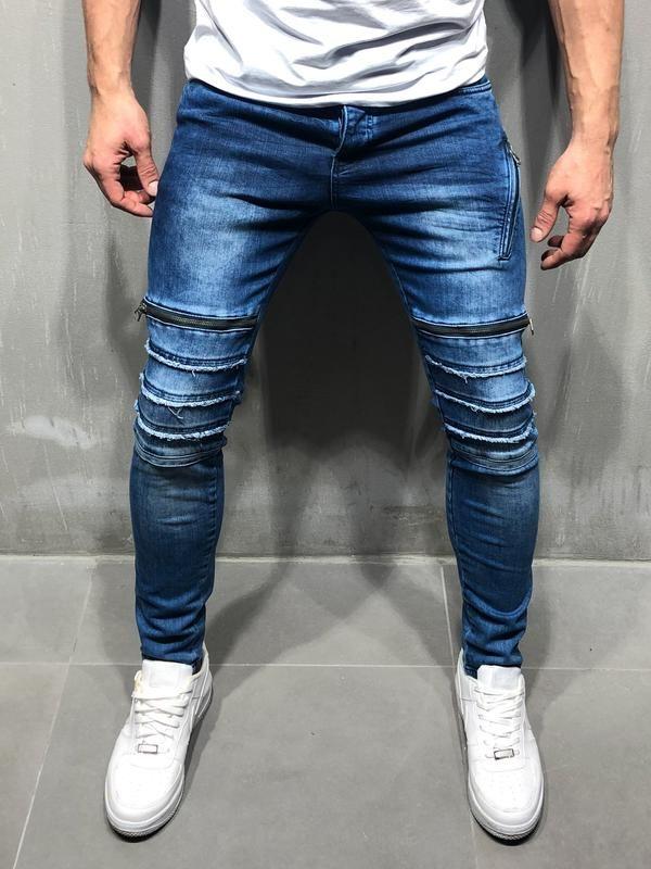 comprar baratas 19d76 0bb61 Men Zipbars Jeans - Blue 4088 | Jeans hombre 2019 en 2019 ...