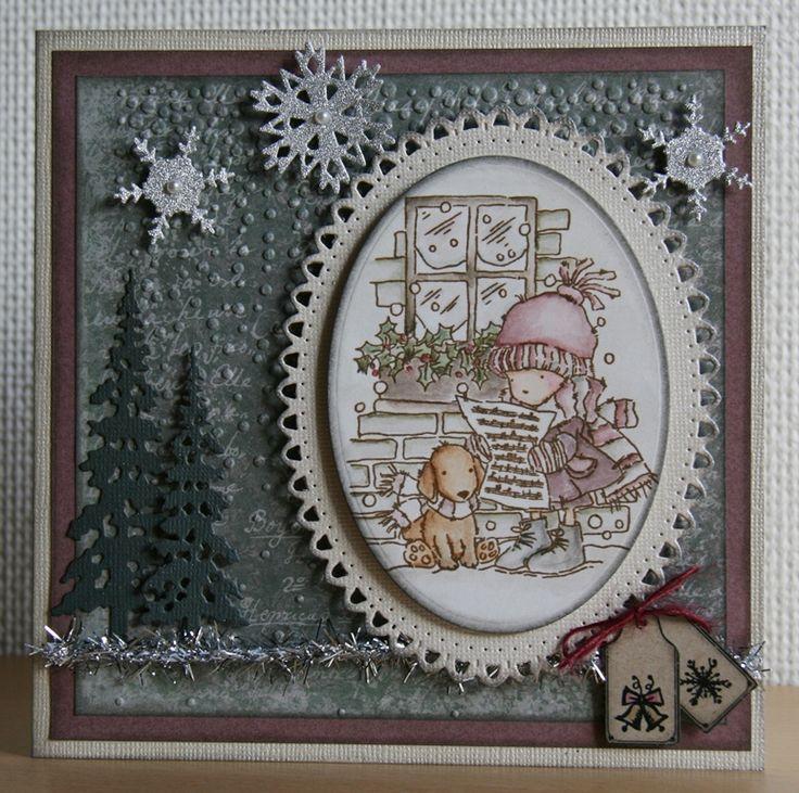 Julekort nr. 1 Håndlavet af Ann Baird