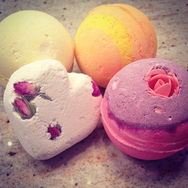 lush soap bombs.. beautiful smell leaves you soft