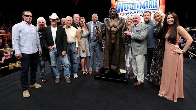WWE Rumors: Ric Flair Statue Revealed at WWE Wrestlemania Axxess 2017. Find more at http://www.wwe-rumors.com/2017/03/wwe-rumors-ric-flair-statue-revealed.html
