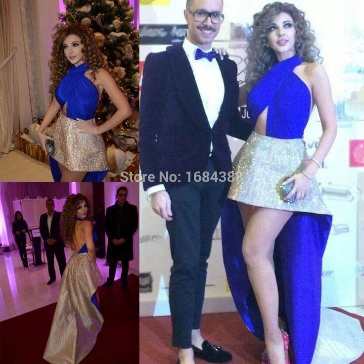 Pas cher Saoudite chanteur Myriam tarifs High Low robes Halter Backless…