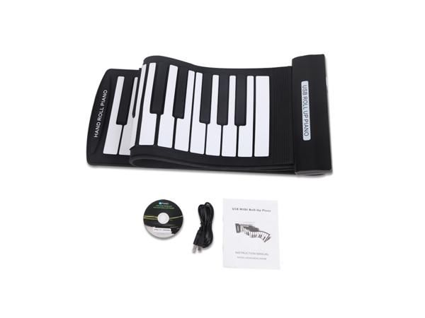 Portable 61 Keys Flexible Roll-Up Piano USB MIDI Electronic Keyboard Hand Roll Piano for Kid Children