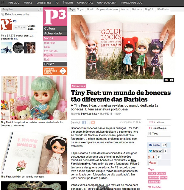 Tiny Feet in the portuguese news   Flickr - Photo Sharing!