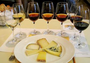 Sherry wines with cheese
