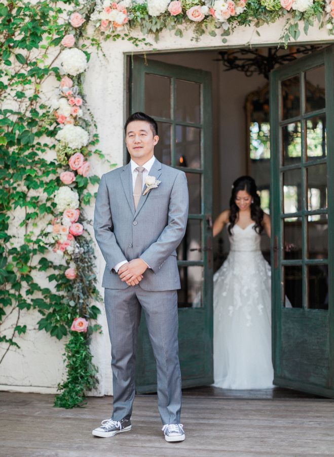 466 best first look images on pinterest beautiful bride bridal adorable first look httpstylemeprettycalifornia junglespirit Image collections