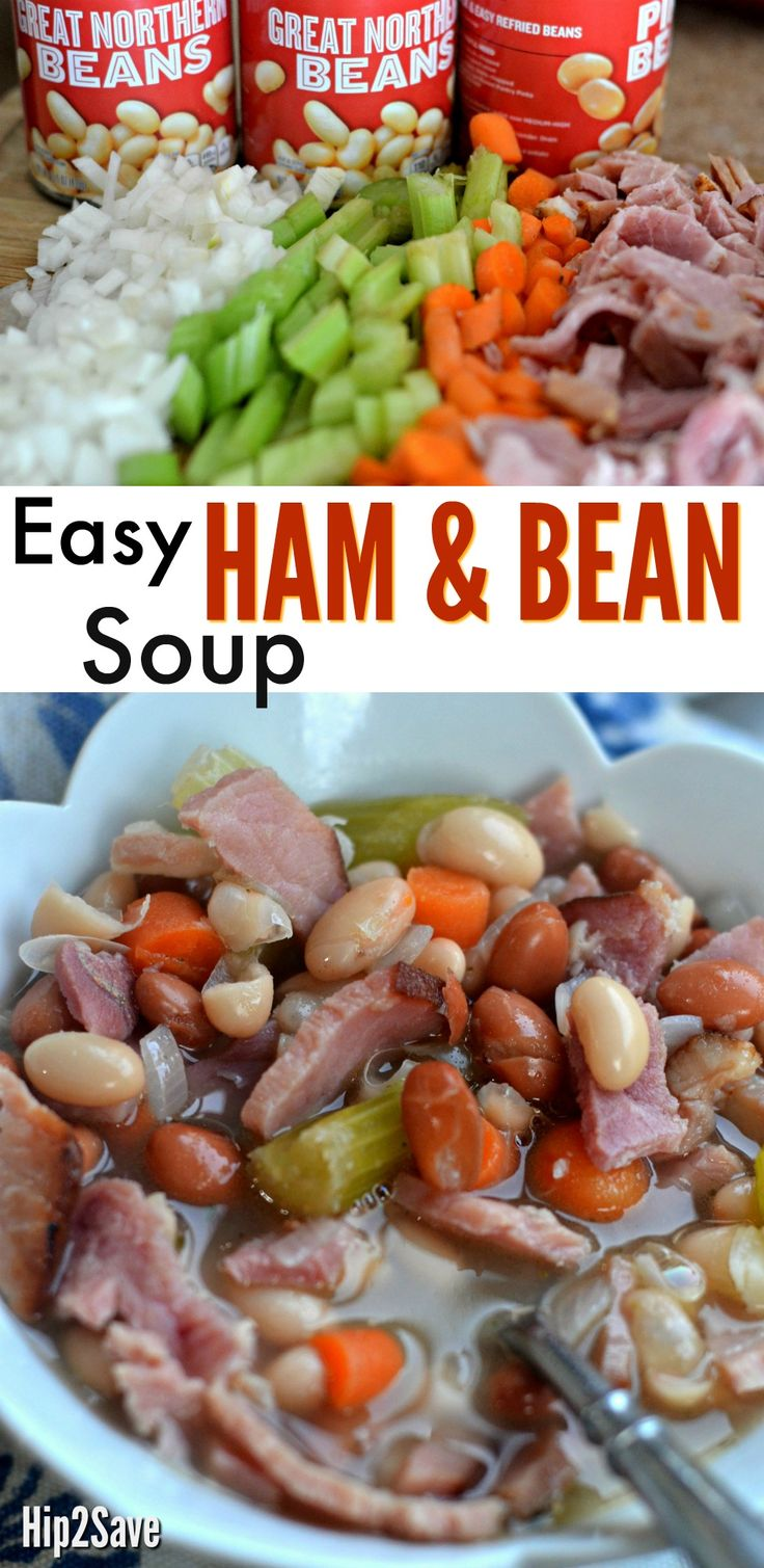 Make this comforting and hearty soup using leftover ham, beans, and veggies for a quick meal with simple ingredients and very little effort.