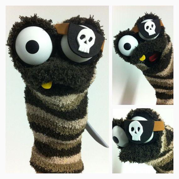 Pirate Sock Puppet via Etsy