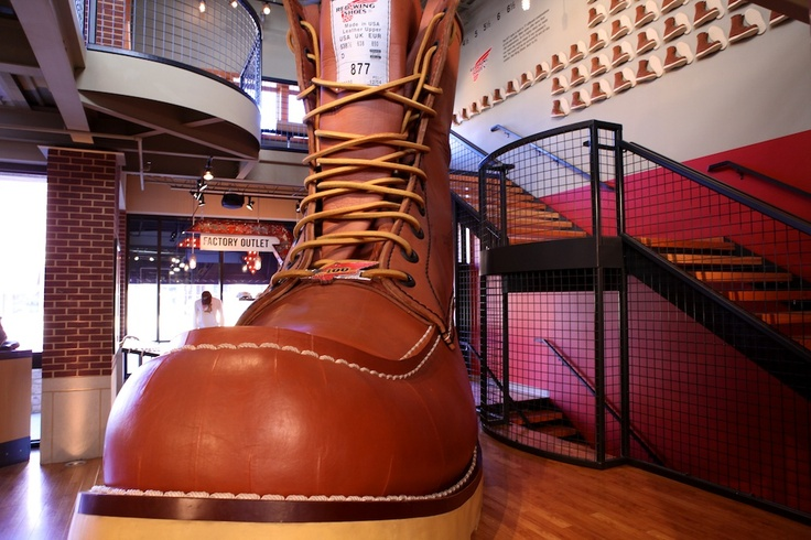 World's Largest Boot, Red-Wing Shoes, Red Wing, Minnesota