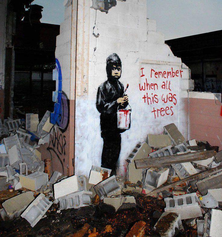 Quand le street art révèle ce qui va mal dans notre monde Alors que le gens vivent de plus en plus dans les grandes villes, il en va de même pour l'art