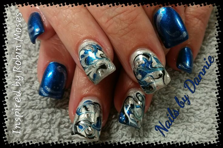 Inspired by Robin Moses! No water marbling.
