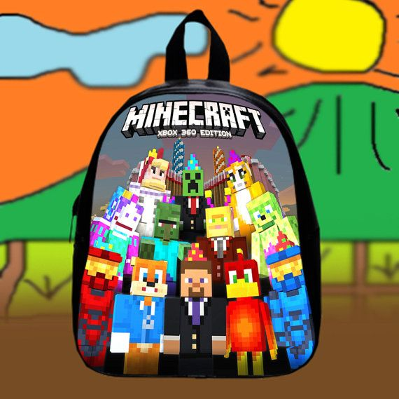 #Minecraft #Xbox #360  Custom SchoolBags Backpack for by KopiHitam55
