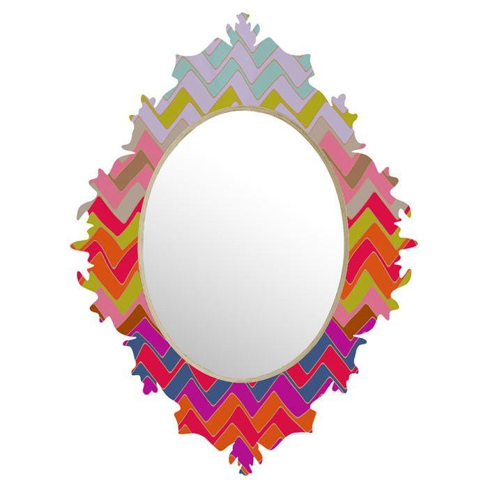 Geo Chevron Wall Mirror