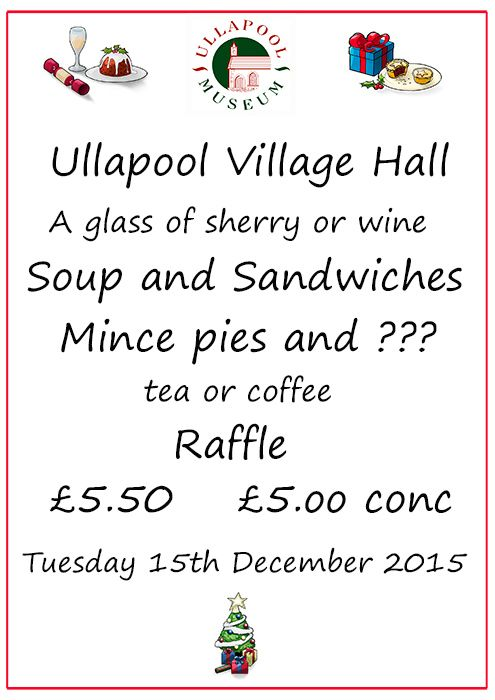Come along,have a lovely lunch,win a prize and have a good blether.
