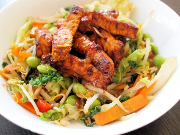 5:2 Diet Fast Day Recipe: Smoky Mexican Stir Fry with Chicken / quorn - 234 cals