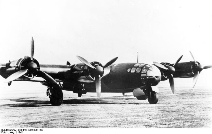 Germany was developing a four engined long distance bomber, the Messerschmitt 264. It was intended to enable the Luftwaffe to bomb New York.