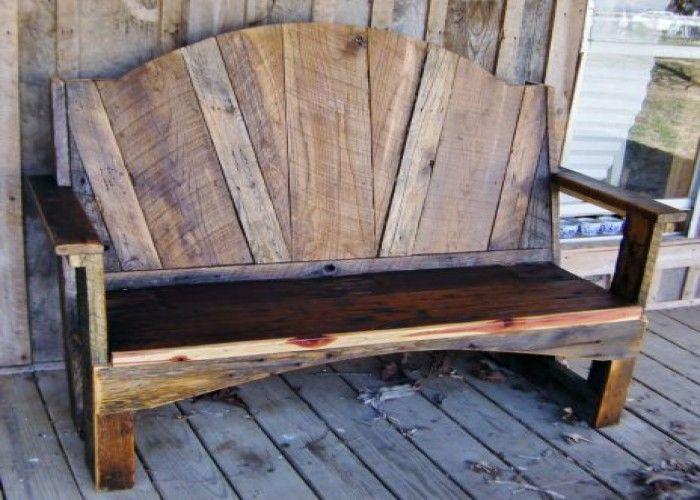 Rustic Barn Wood Bench / or...a headboard...