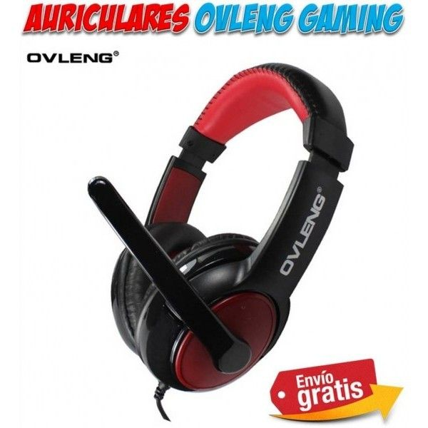 Auriculares con microfono para ordenador PC. Cascos Gaming acolchados para jugar juegos online en ordenadores PC.