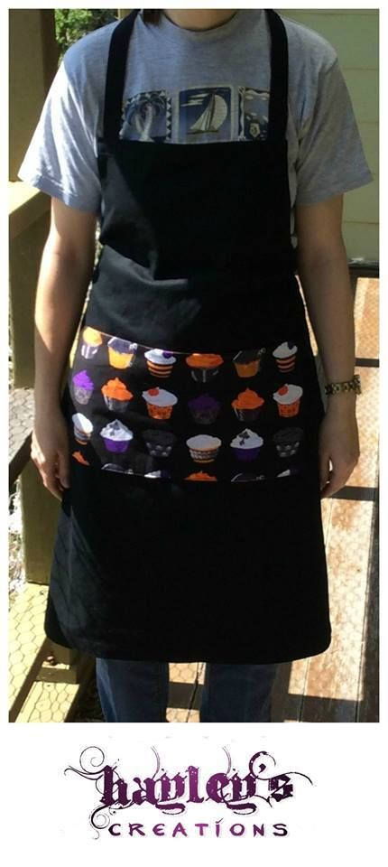 Handmade by Hayley at Hayley's Creations Spooky Apron  For more information, please visit https://www.facebook.com/HandmadeMarkets