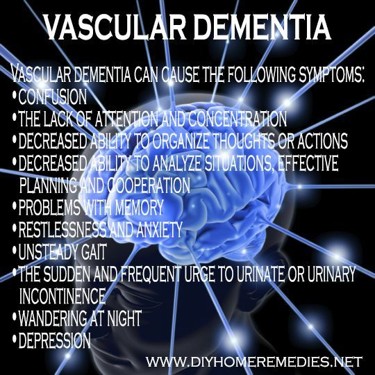 Vascular dementia is a general term that describes problems with reasoning, planning, judgment, memory and other thought processes, caused by brain damage due to impaired blood flow to the brain.