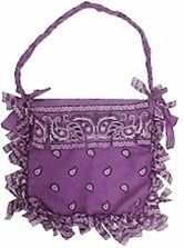 No-sew bandana purse... cute craft for girls - Click image to find more DIY  Crafts Pinterest pins