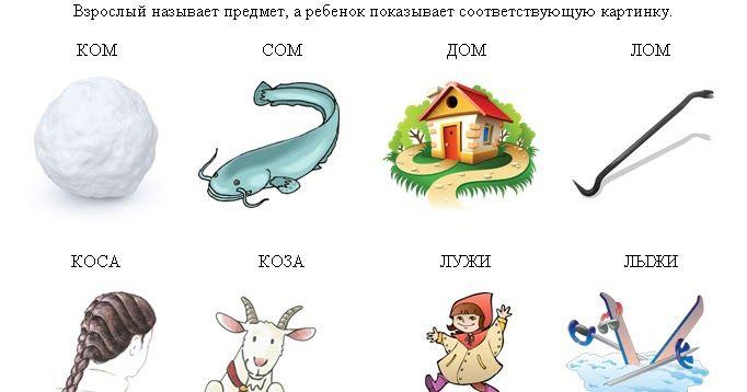 описании логопедические картинки коза-коса ней