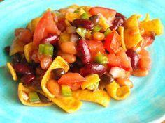 3 Bean Frito Chip Salad! So Easy and SO Delicious!